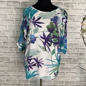 Jams World Tropical Graphic Cold Shoulder Small